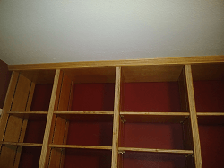 Crown moulding installed.