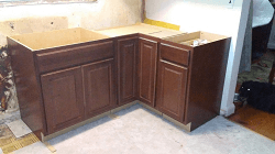 Remaining cabinets installed.